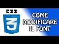 Guida CSS3 - 2.2 - Modificare il font | FoglioDiStile.com