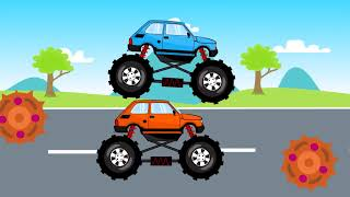 Monster Truck Factory | Cartoons For Kids Monster Truck Factory