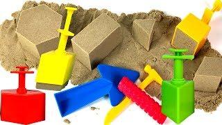 SURPRISES IN KINETIC SAND - SANDBLOX SHAPES SURPRISES WITH MINNIE MOUSE DOC MCSTUFFINS & DUMP TRUCK