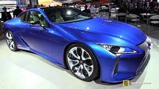 2017 Lexus LC500 Hybrid - Exterior and Interior Walkaround - 2016 New York Auto Show