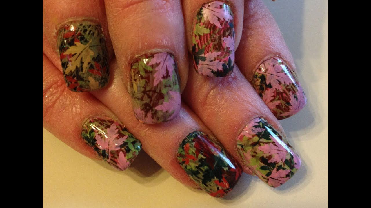 Mossy Oak Nail Stamping Tutorial Youtube