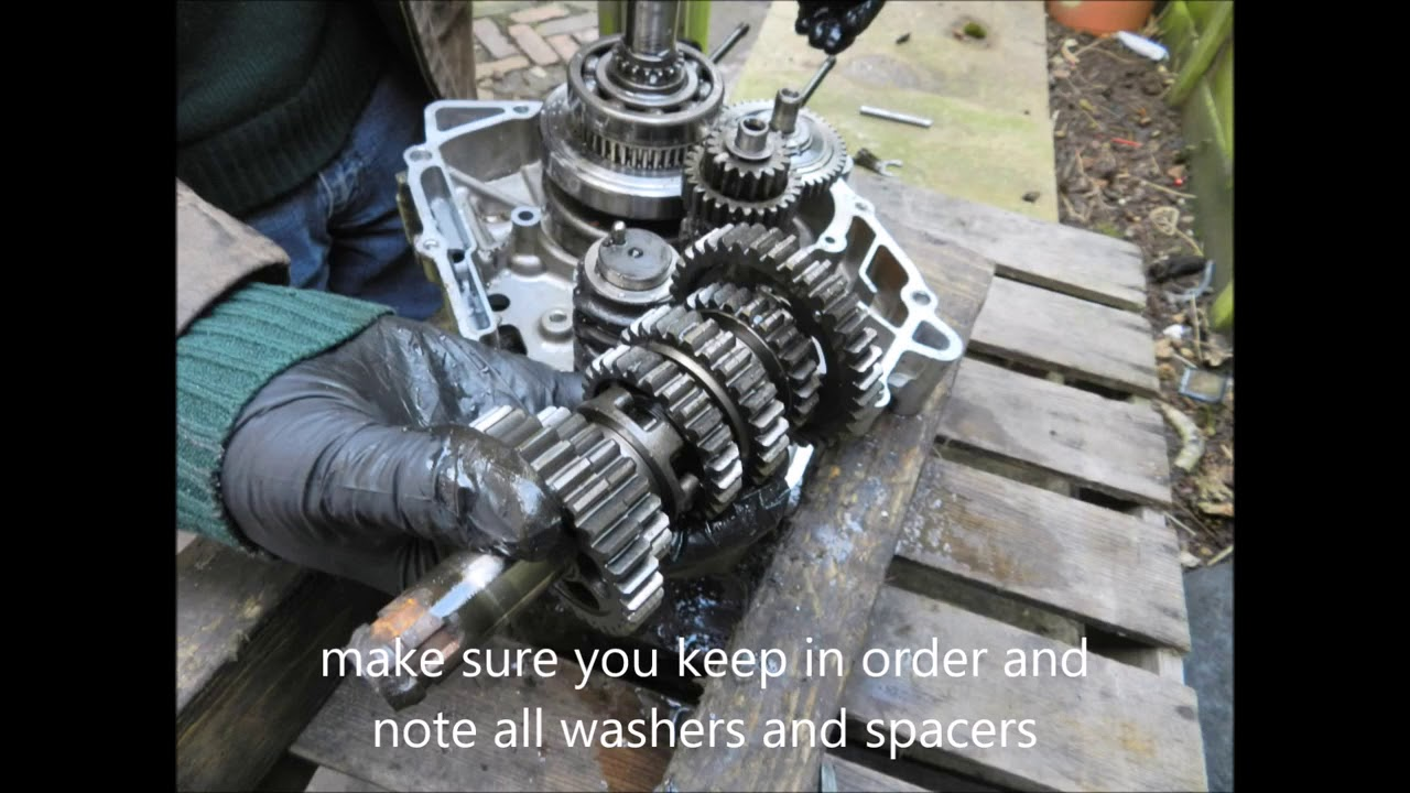 small resolution of honda cbr 125 gearbox removal refitting input output shafts