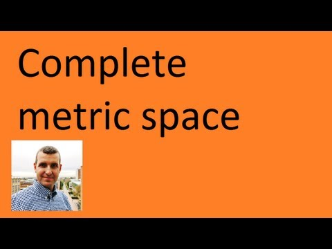 Complete metric space:  example & proof