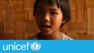10-yr-old walks for 3 days to escape violence in Myanmar | UNICEF
