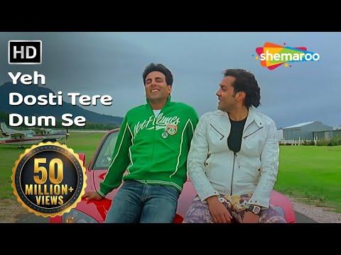 Yeh Dosti Tere Dum Se   Dosti Songs   Akshay Kumar   Bobby Deol   Udit Narayan   Filmigaane