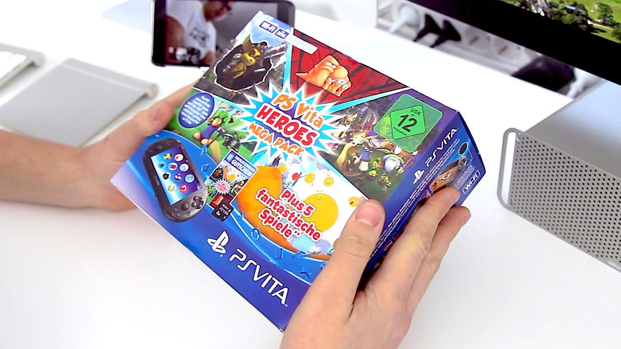 Playstation Vita Für 99 Mit 5 Spielen Unboxing Youtube