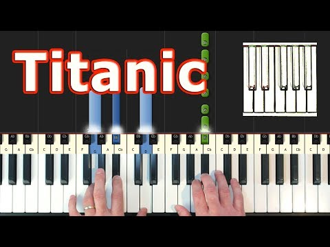 My Heart Will Go On - Titanic - Piano Tutorial - Celine Dion - Sheet Music (Synthesia)