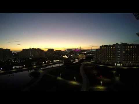 Закат над AZIMUT Hotel Sochi