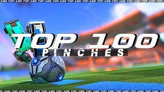 ROCKET LEAGUE TOP 100 PINCHES (BALL GOES BRR ZOOM ZOOM 😲)