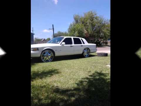97 Lincoln Towncar On 24 S Youtube