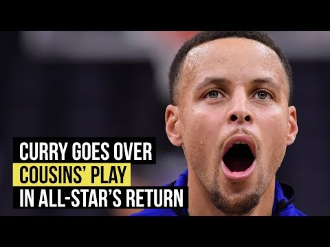 Stephen Curry goes over DeMarcus Cousins' return