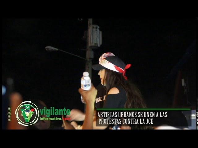 Artistas Urbanos se unen a las protestas contra la JCE
