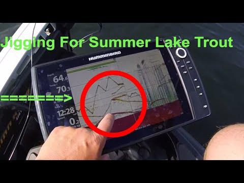 Summer Lake Trout Jigging = FUNNN!