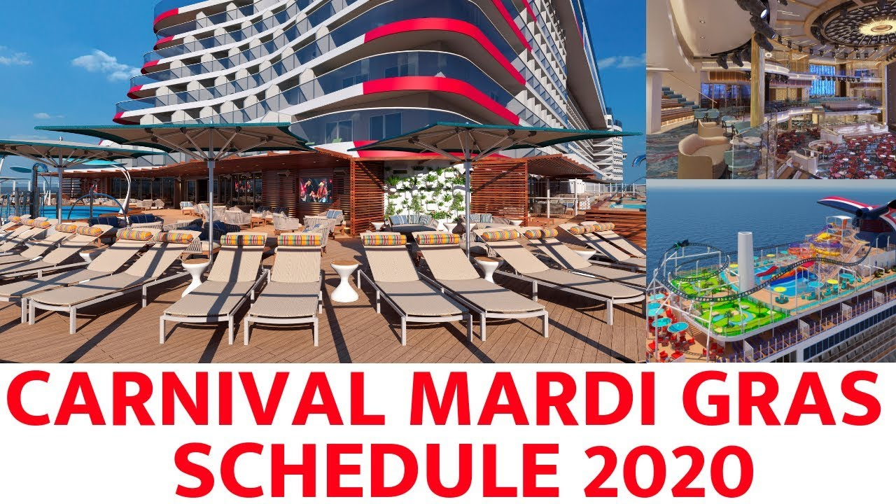 Port Canaveral Cruise Schedule 2020 Carnival Mega Ship Schedule Detailed (2020)   YouTube