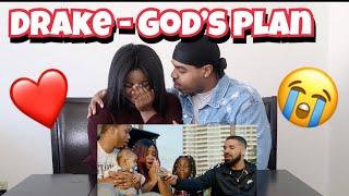 Drake gives away $1 Million😱 | Drake - God's Plan (Music Video) | SHE CRIES 😭❤️ | REACTION!!!!