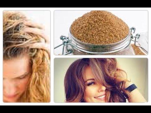 Pousse des cheveux gommage