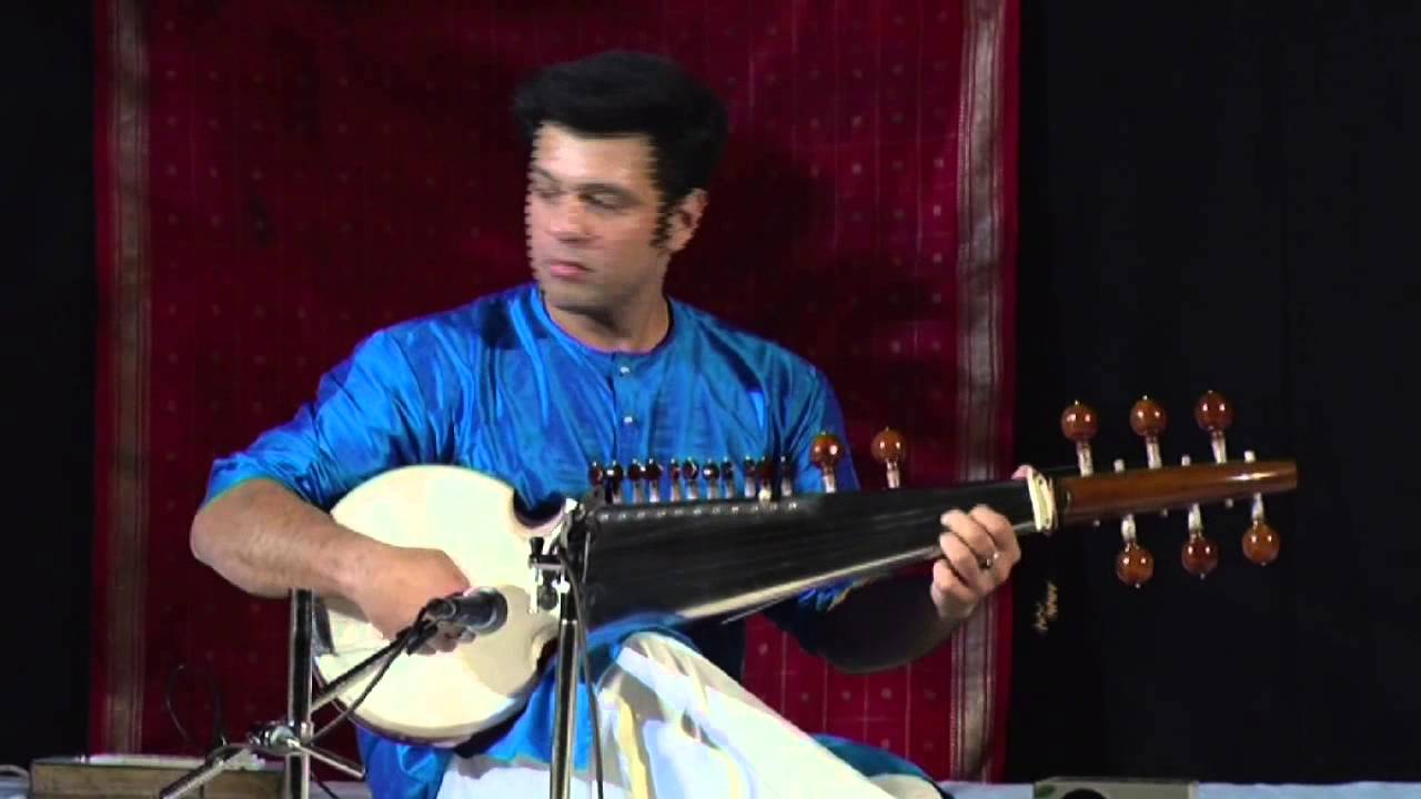 Live in Concert - Amaan Ali Khan on Sarod - Raga Charukeshi - Ek Taal 12 Beats Time Cycle