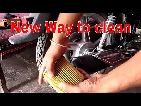 paper filter cleaning || k&n air filter cleaning New Way !!