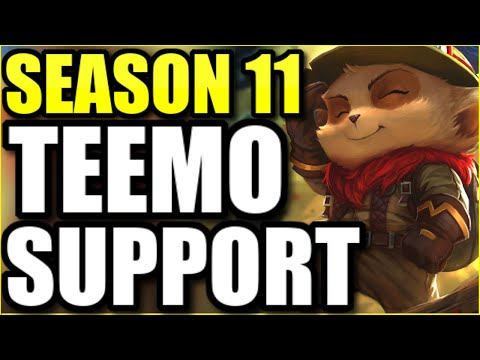 (MOST UNDERRATED SUPPORT EVER) THE SEASON 11 TEEMO BUILD THAT COMPLETELY DOMINATES EVERY SINGLE GAME