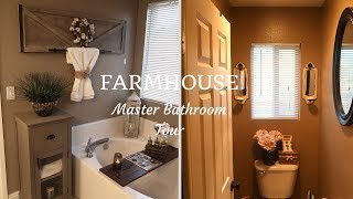 FARMHOUSE BATHROOM TOUR 2018| FARMHOUSE DECOR