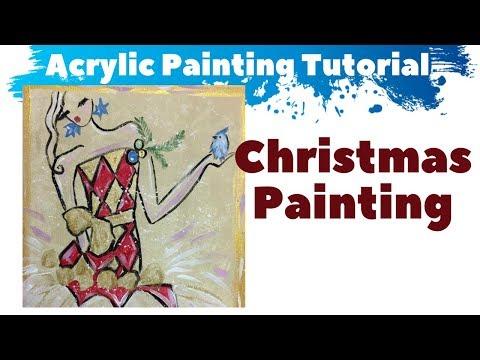 Simple Christmas Painting Ideas – DIY Canvas Art Tutorial