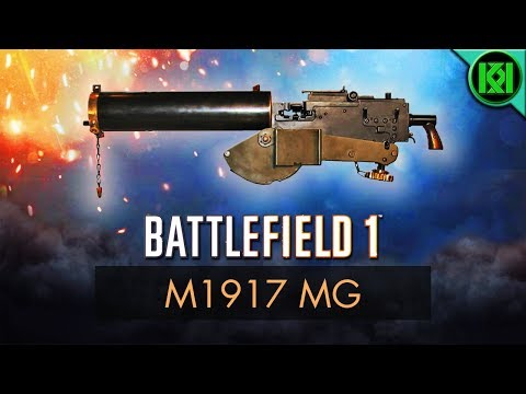 Battlefield 1: M1917 MG Review (Weapon Guide) | New BF1 DLC Guns | PS4 Gameplay