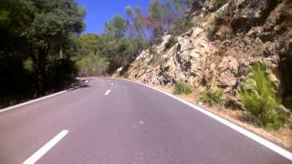 Driving in the mountains of Mallorca
