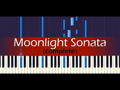 Piano Sonata No 14, Moonlight Complete  BEETHOVEN