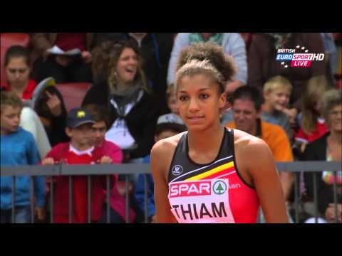 Heptathlon Women High Jump ENTIRE EVENT both pools European Champs Zurich 2014