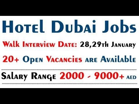 Hotel Jobs in Dubai 2018 Walk in Interview Tomorrow in Gevora Hotel