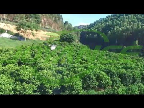 sprayer drone spray chemicals on crops