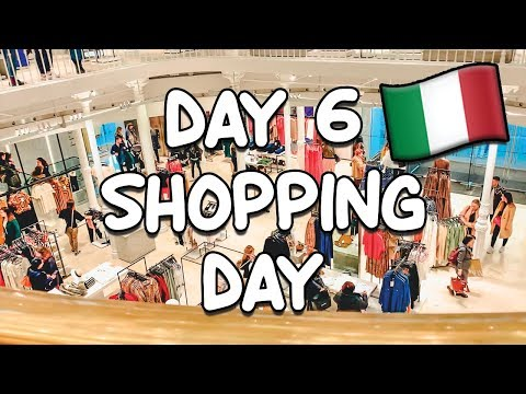 DAY 6 IN ROME, ITALY: SHOPPING ALL AROUND ROME!