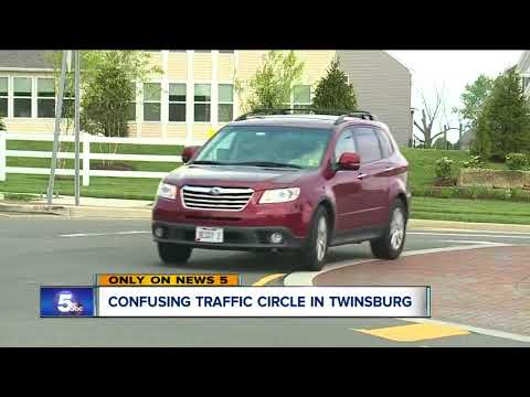 Confusing traffic circle in Twinsburg