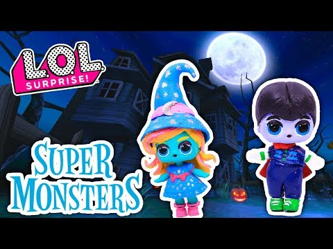 SUPER MONSTERS Toys  🧙Katya & Drac 🧛 from NETFLIX Custom LOL SURPRISE DOLLS Series 3 DIY Toys