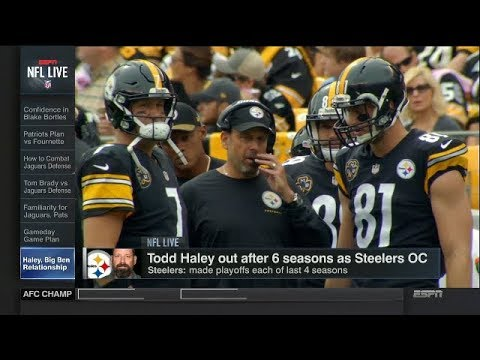 Todd Haley Out After 6 Seasons as Steelers OC   NFL Live   Jan 17, 2018