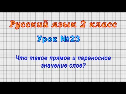 Прямое и переносное значение слов 2 класс видеоурок