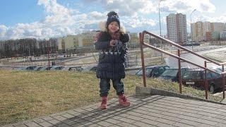 Фитоняшка Маргарита - бег с ускорением на стадионе в феврале-)
