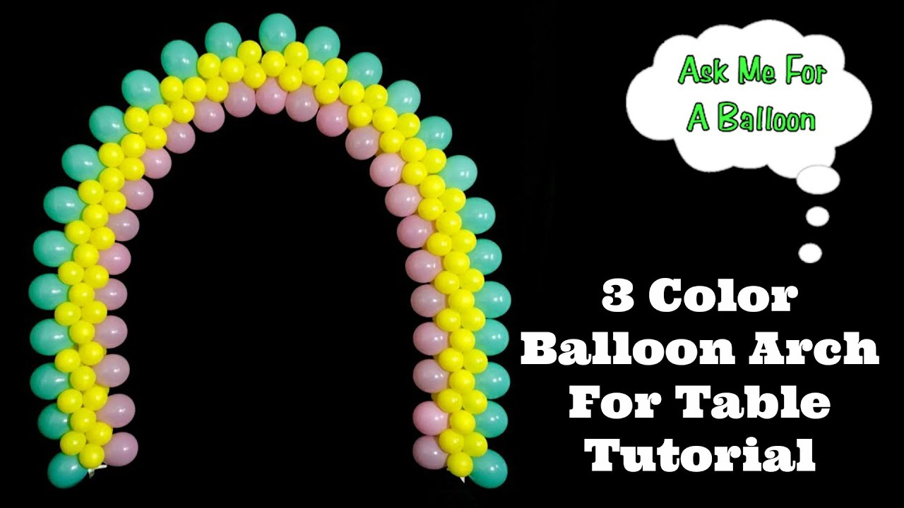 3 color flat balloon arch tutorial youtube