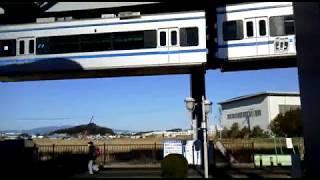 湘南モノレール5000形(湘南深沢駅発車シーン)