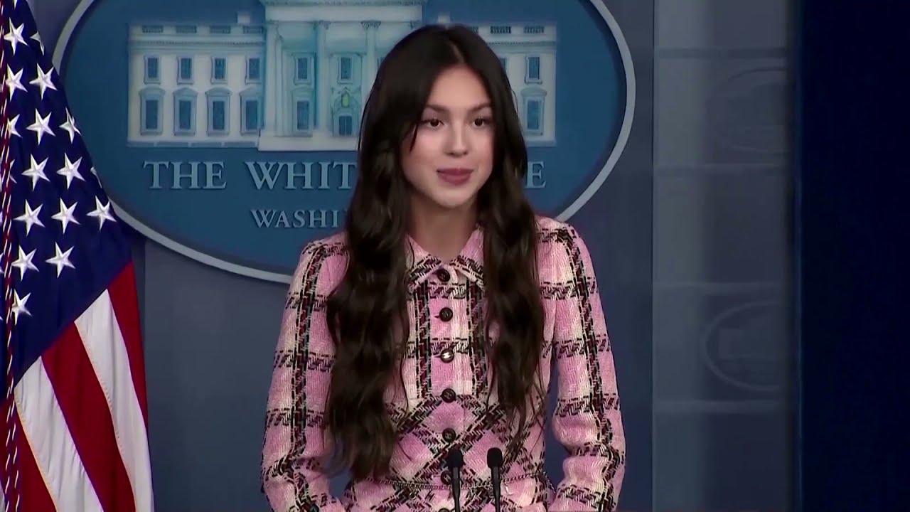 Olivia Rodrigo visits the White House to promote youth vaccination