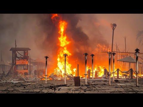 Sizilianische Hafenstadt Catania von Großbrand betroffen
