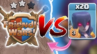 Clash Of Clans - FRIEDNLY WARS Vs. 20X WITCHES!! NEW UPDATE 2016