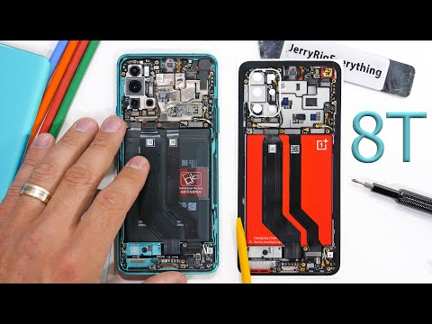 Oneplus 8T Teardown! - Are there really TWO batteries?