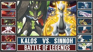 Battle of Legends: KALOS vs. SINNOH (Pokémon Sun/Moon) - [ARCEUS vs ZYGARDE]
