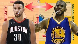 What If Chris Paul and Stephen Curry switched teams?