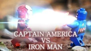 LEGO - Captain America VS Iron Man - Marvel's Captain America: Civil War (Stop Motion)