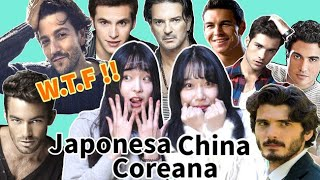Coreana, China Y Japonesa reaccionan a los famosos Latinos y E…