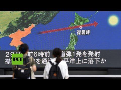 Así sonaron las sirenas de aviso de bomba en Japón