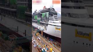 Timelapse video: The makingof a cruise ship