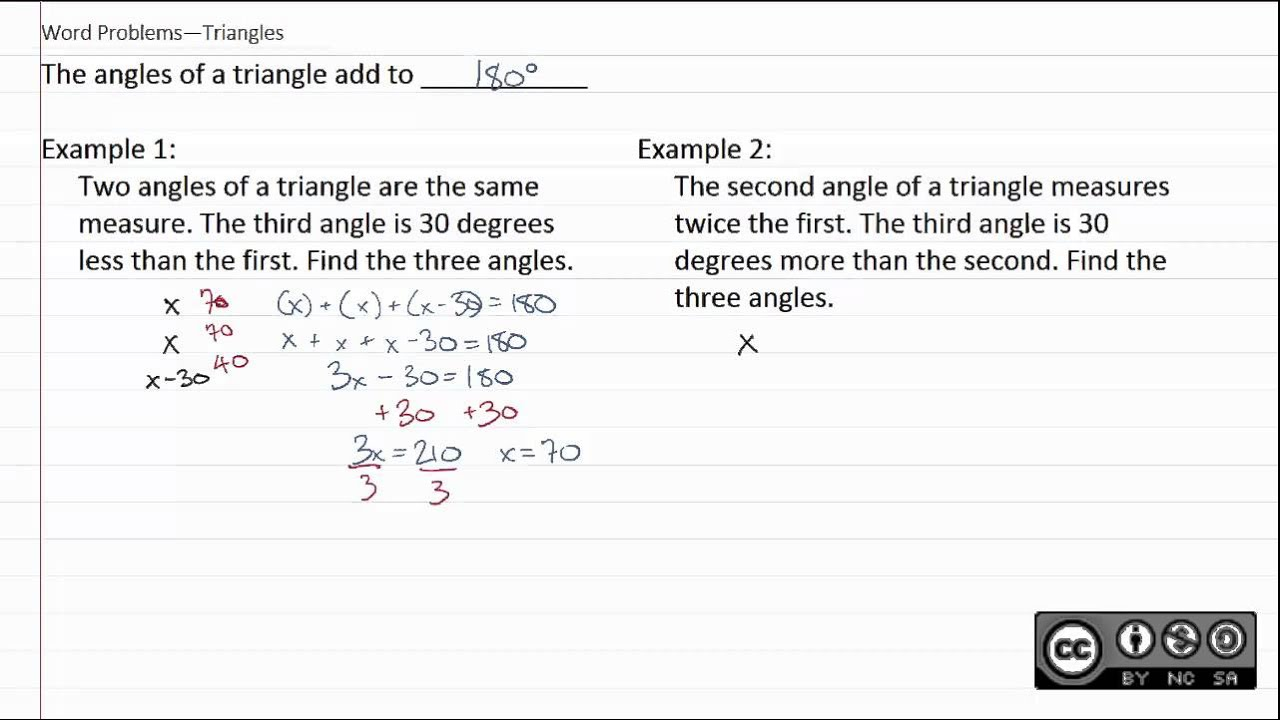 75d word problems triangles youtube 75d word problems triangles buycottarizona Images